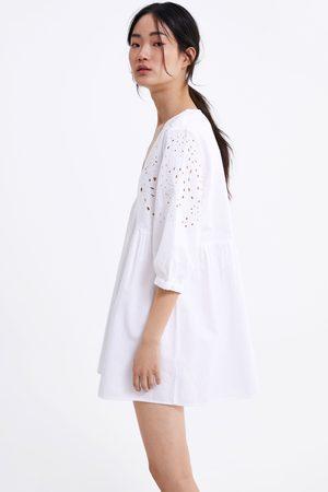 Zara Geborduurde mini-jurk