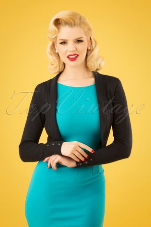 Collectif Jean knitted Bolero in Black