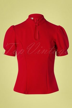 Belsira 50s Fenna Top in Red