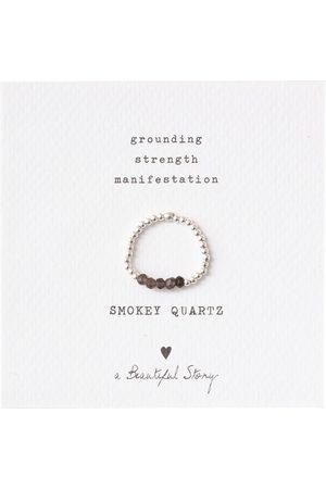 A Beautiful Story Dames Ringen - Ringen-Beauty Smokey Quartz Silver Ring