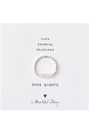 A Beautiful Story Ringen-Beauty Rose Quartz Silver Ring