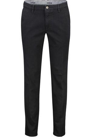 m.e.n.s. Madison pantalon zwart Modern Fit