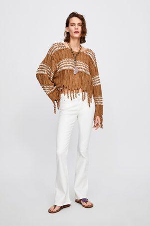 Zara Dames Bootcut - Jeans zw premium skinny flare white
