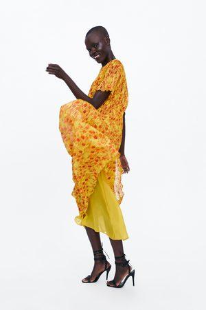 Zara Plissé jurk met bloemenprint