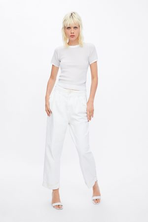 Zara Tweekleurige tricot trui