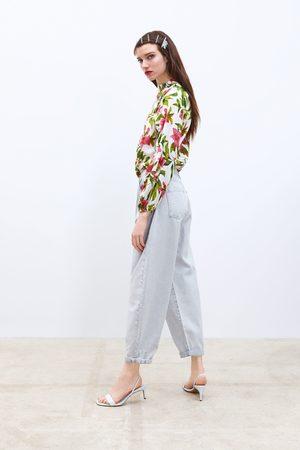 Zara Jeans z1975 slouchy met bandplooi