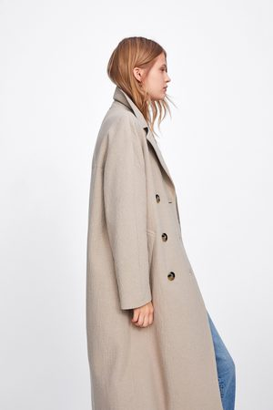 Zara Lange double-breasted jas