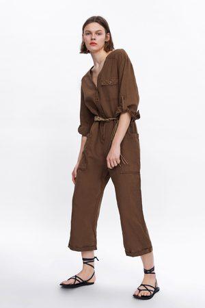Zara Belted wide-leg jumpsuit