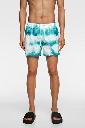 Zara Tie-dye zwemshort met print