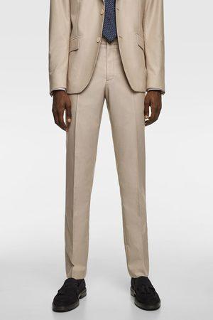 Zara Heren Pantalons - Kostuumbroek met structuur