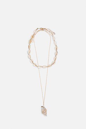 Zara Set van twee kettingen met schelpen