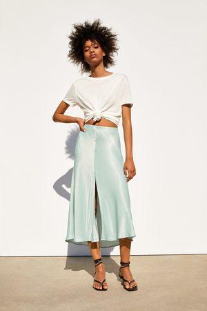 Zara Satijnachtige rok