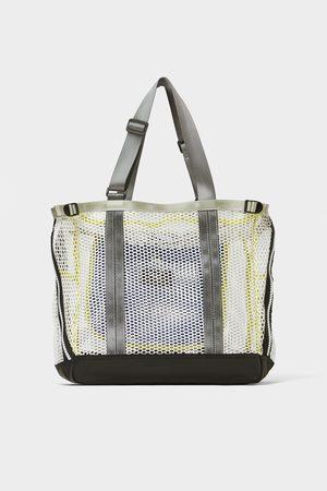 Zara Witte tas van netstof