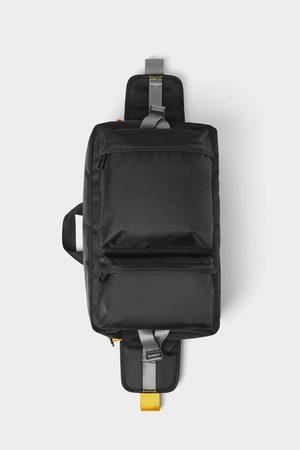 Zara Heren Schoudertassen - Zwarte schoudertas met meerdere vakken