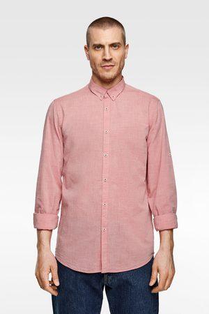Zara Overhemd in relaxed fit met mouwophouder