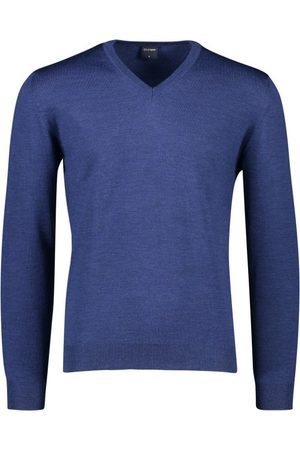 Olymp Heren Pullovers - Pullover wol donkerblauw v-hals