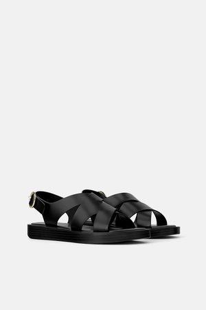 Zara Minimalistische platte sandalen join life