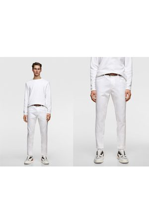 Zara Gestructureerde broek met ceintuur