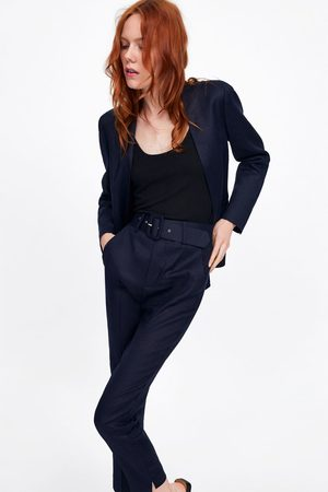 Zara Broek met hoge taille en riem