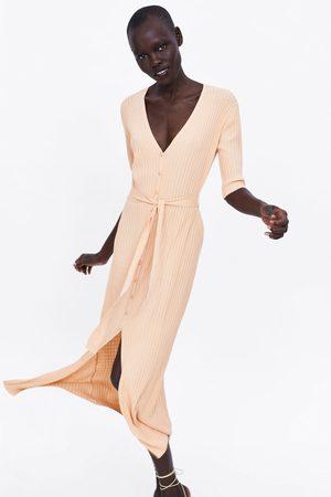 Zara Tricot jurk met ceintuur