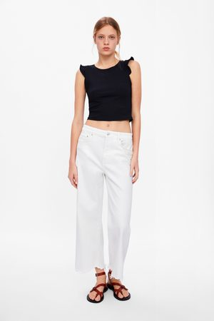 Zara Cropped t-shirt met volants
