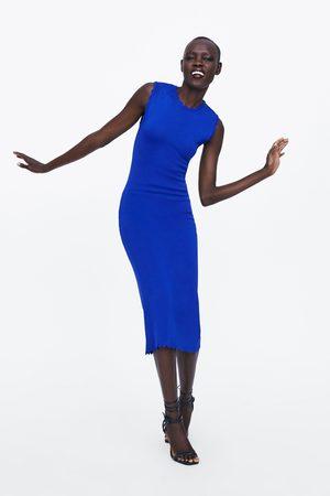Zara Tricot jurk met geschulpte zoom