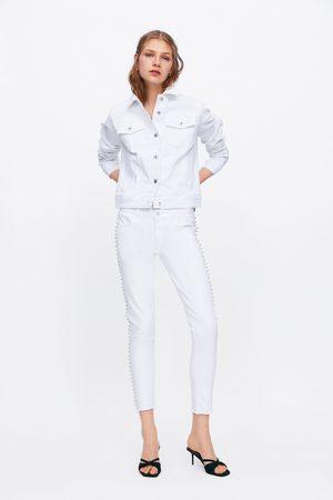 Zara Skinny jeans z1975 met mid-rise en glanzende details