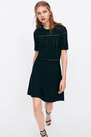 Zara Tricot jurk met ajour