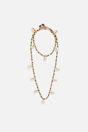 Zara Set ketting en enkelbandje met schelpen