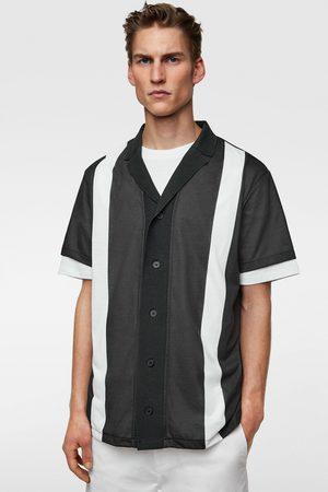Zara Gestructureerd tricot overhemd