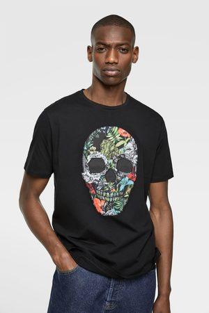 Zara T-shirt met contrasterend doodshoofd