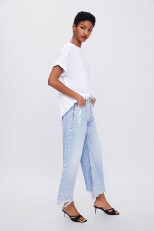 Zara Jeans z1975 met hi-rise en wijde pijpen