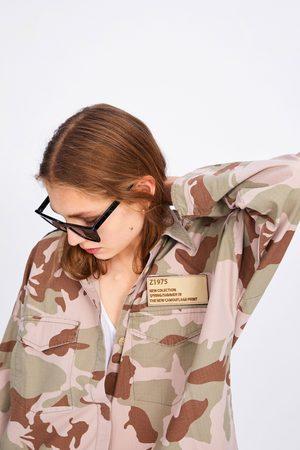Zara Dames Jacks - Overshirt met camouflageprint en zakken