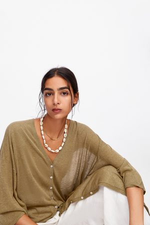 Zara Lang vest met knopen