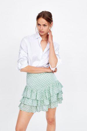 Zara Jacquard broekrok met stippenprint