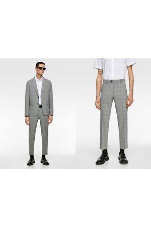 Zara Heren Pantalons - Geruite wasbare kostuumbroek
