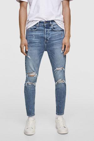 Zara Heren Pantalons - Jeans in new carrot fit met scheuren