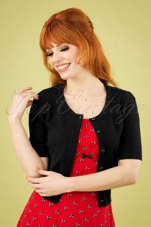 Bunny 50s Wendi Cardigan in Black