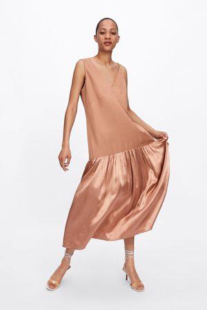 Zara Dames Asymmetrische jurken - Asymmetrische combi-jurk
