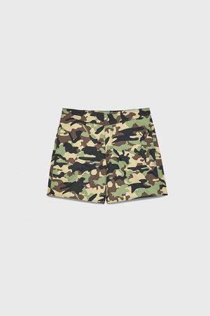 Zara Zwemshort met camouflageprint