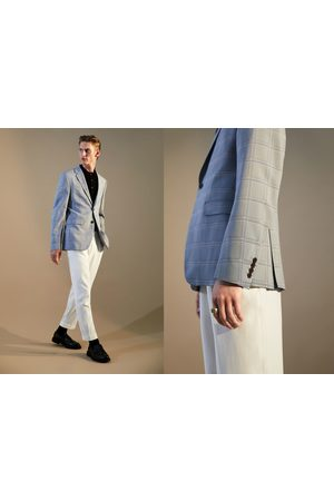 Zara Geruite kostuumblazer met coolmax®