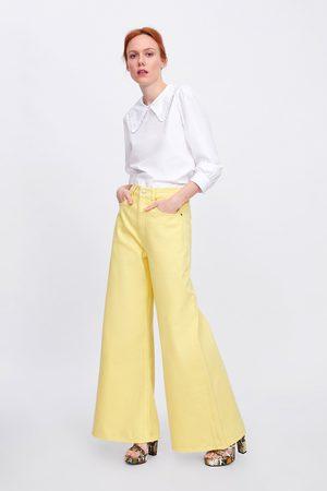 Zara Jeans ze premium vintagehigh waist lemon yellow
