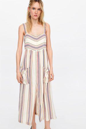 Zara Geruite jurk met zakjes