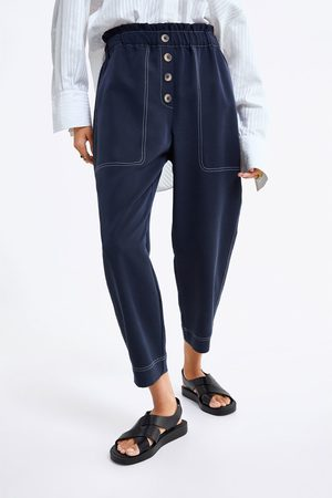 Zara Slouchy broek met knopen