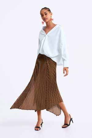 Zara Polka dot pleated skirt