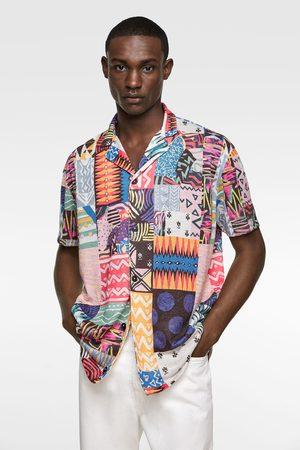 Zara Tricot overhemd met geometrische print