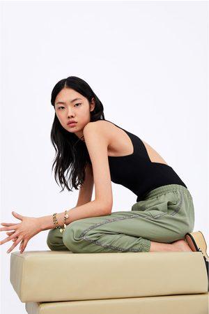 Zara Joggingbroek met glanzende zijstroken
