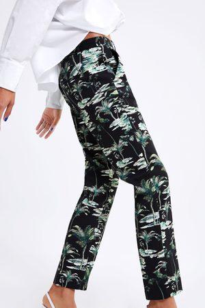 Zara Broek met palmbomenprint