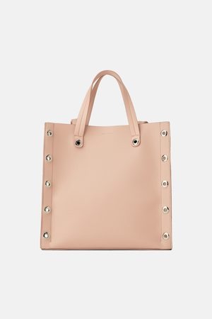 Zara Vierkante shopper met sierringetjes
