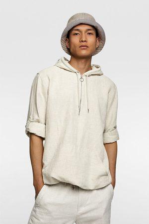 Zara Rustiek shirt met capuchon